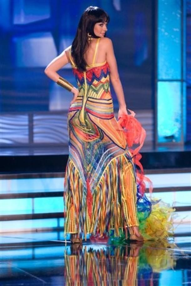 Traje Típico de Miss Colombia trasero