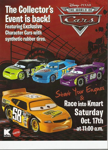 Disney CARS K Mart EVENT OCTOBER 17th,2009