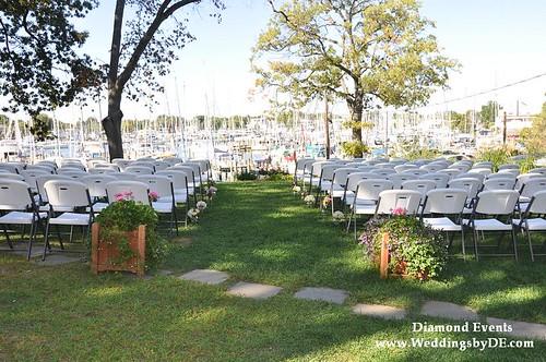 Port Annapolis Marina Wedding Ceremony set up