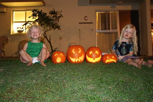 Meg & Cate w/ Jack-o-lanterns
