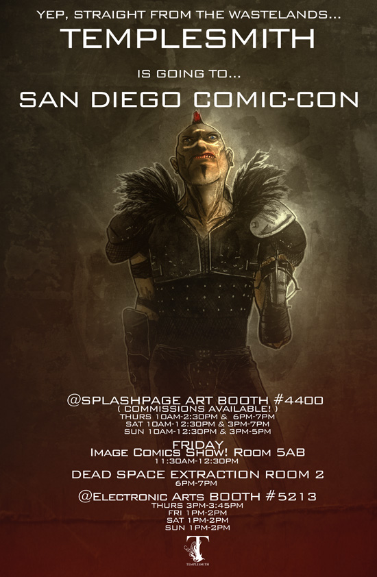 Ben Templesmith At San Diego Comic Con