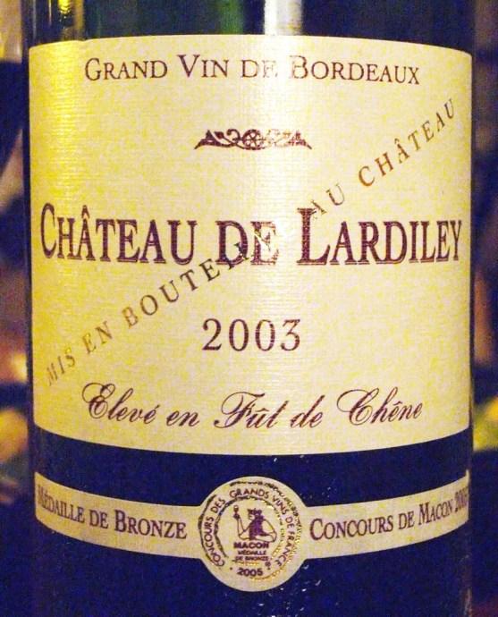 Chateau de Lardiley 2003