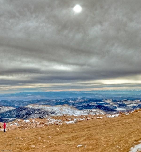 091128__DSC7140-7145_photomatix_pano_On top of Pikes Peak, 14110 feet above sea level