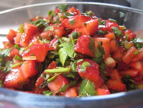 cilantro with salsa