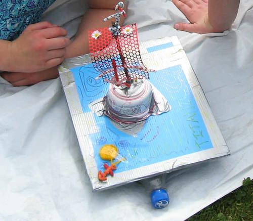 Mini raft building exercise