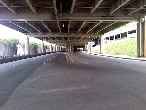River Rd. underneath I-64 in Louisville