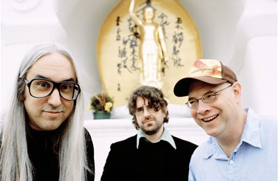 J Mascis, Lou Barlow and Murph of Dinosaur Jr. Photo by Brantley Gutierrez.