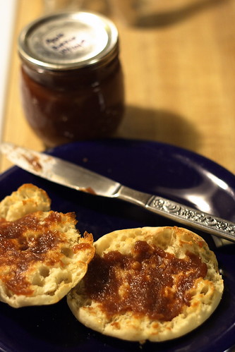 Apple butter on an English Muffin