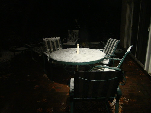 First Snow 2009 - Patio