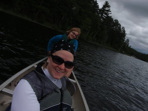 Mary and Me in a canoe