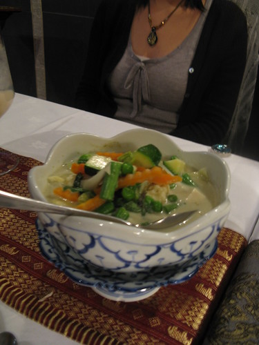 Vegetarian green curry