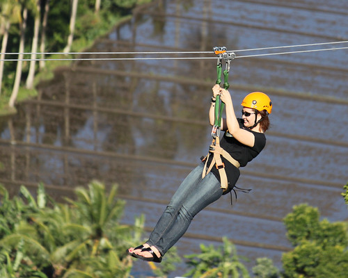 Zipline in Lignon Hill (zoomed in)