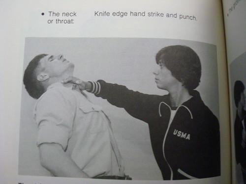 Knife Edge Hand Strike Punch Of Throat