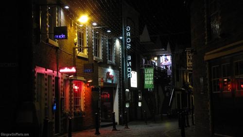 Ashton Lane, Empty, At Night