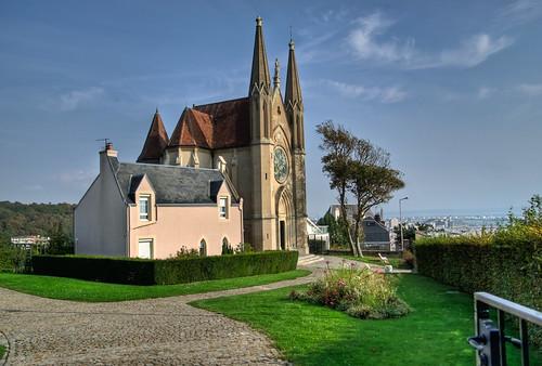 8761 - Church (chapelle) Notre dame des flots Ste Adresse France par Rolye