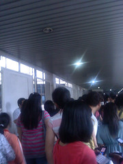 Fans lined up