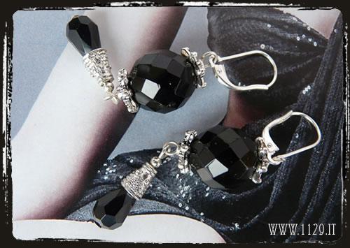 Orecchini neri - Black earrings IENESFA