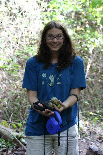 Dismal Swamp - Vicky with First Three Pawpaws (by Ryan Somma)