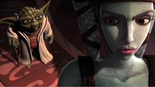 Aalya Secura und Meister Yoda