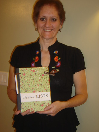Here's Brenda and her completed holiday planner.