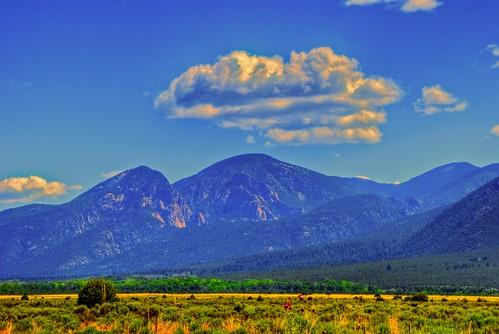 Rain cloud over Taos