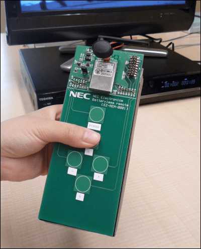 Battery-Less Remote Prototype By NEC