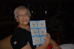 Playing bingo on the Monarch of the Seas