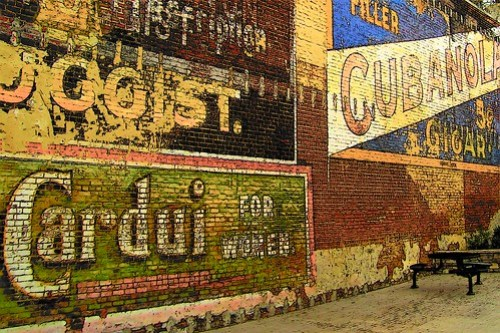 """Ghost Sign Wall"" by lewsviews"