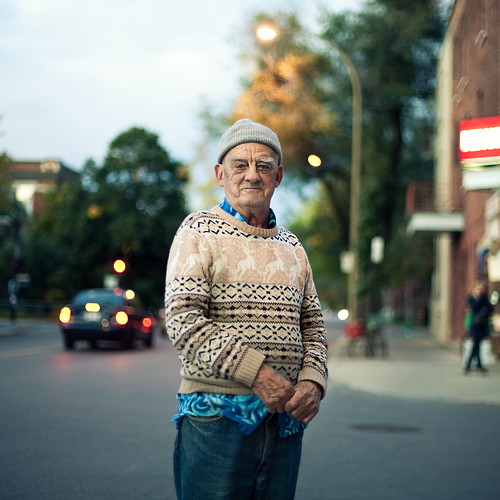 A stranger: montréal, André 72 years old