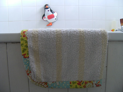 old towel = new bath rug