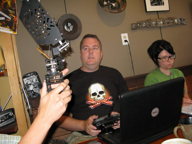 Kirk Membry shows off his new gear at NH Media Makers (by mrjohnherman)