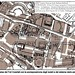 Rome, the Imperial Fora (2009): Plan - the old Alessandrina Quarter (brown), with present state of the Imperial fora (black [B. Baldrati c.2004]. Bibliography: Imperial Fora (R. Meneghini 2009) & L. Ungaro (2007).