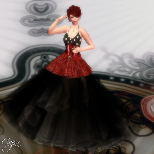Now, toss in Digit Darkes tulle skirt while keeping the short Elise skirt as an overskirt/ruffle and get some real elegance. The DD tulle skirt should be in every wardrobe as it seems to go with anything.