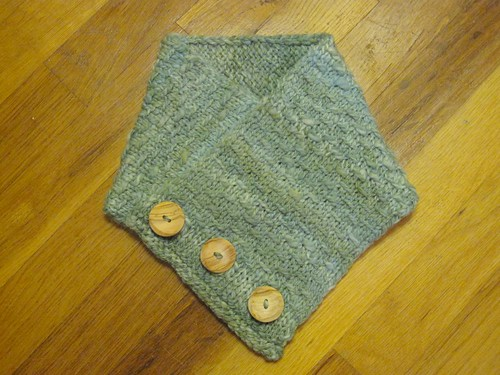 Button-Up Neck Warmer Buttoned