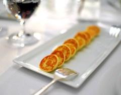1st Course: Sterling Royal Caviar Potato Blini
