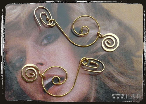 Orecchini spirali dorate - Golden spiral earrings IGFARAH
