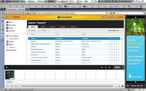 grooveshark screenshot