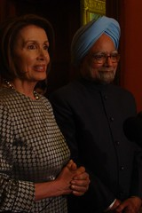 Speaker Nancy Pelosi and Prime Minister Manmoh...