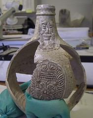 Bartmann jug - with sherds in place