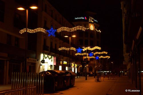 La calle García Ximénez con iluminación navideña.