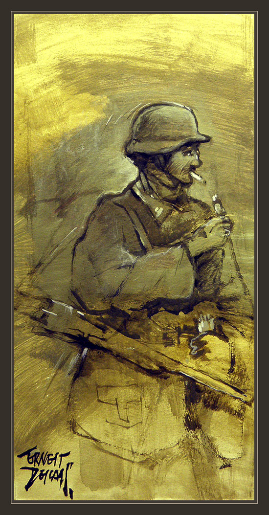 WW2-WWII-GERMAN ARMY SOLDIER-HELMET-CASCO-SOLDADO ALEMAN- ERNEST DESCALS