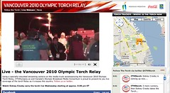 Live Webcam @ Vancouver 2010 Olympic Torch Relay - Pix 7 (Sidney Crosby)