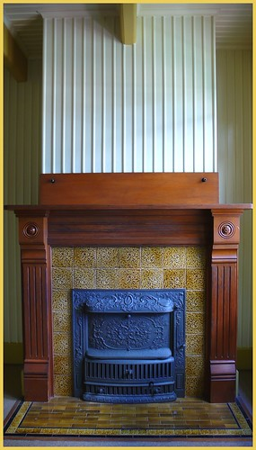 Fireplace in the Winchester House, San Jose, CA.