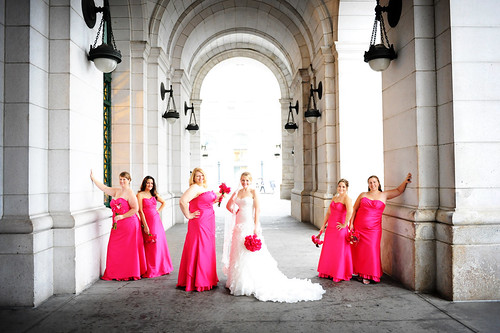 Bridesmaids & Bride at Union Station