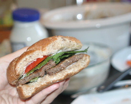 Teriyaki gluten sandwich
