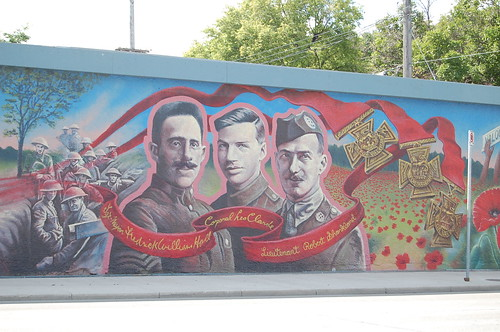 The Mural on Valour Road, in Winnipeg, MB