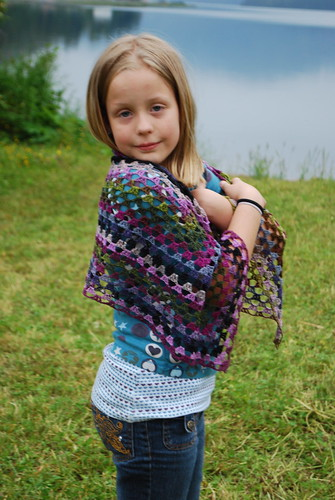 Madeline modeling shawl