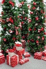 "Christmas decorations display - a red & green ...Christmas decorations display - a red & green theme (Photo credit: IronRodArt - Royce Bair (""Star Shooter""))"