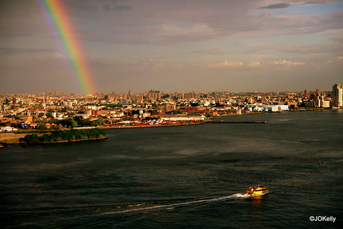Rainbow over Brooklyn, June 29, 2009 - photo by JOKelly