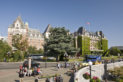 The Empress Hotel facing the Inner Harbour of Victoria